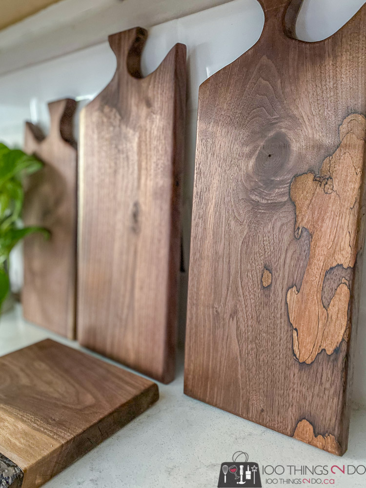 make your own charcuterie board, DIY charcuterie board, walnut charcuterie board
