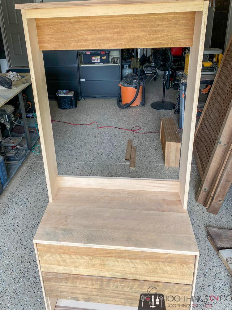 upcycled dresser, dresser upcycle, dresser turned hall tree