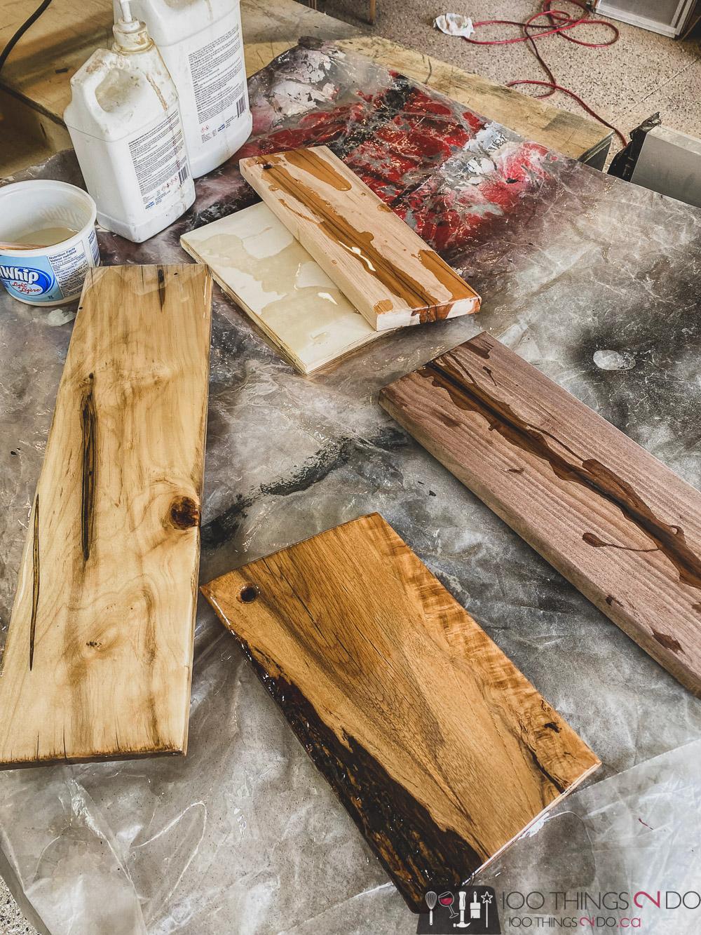 epoxy coated charcuterie boards, epoxied charcuterie boards