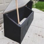 DIY cold frame, DIY mini greenhouse, repurposed shower door