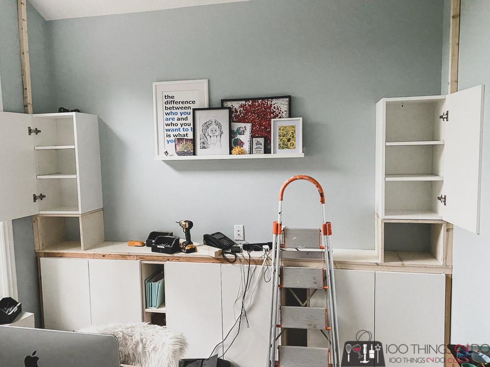 building upper shelves for DIY built-ins