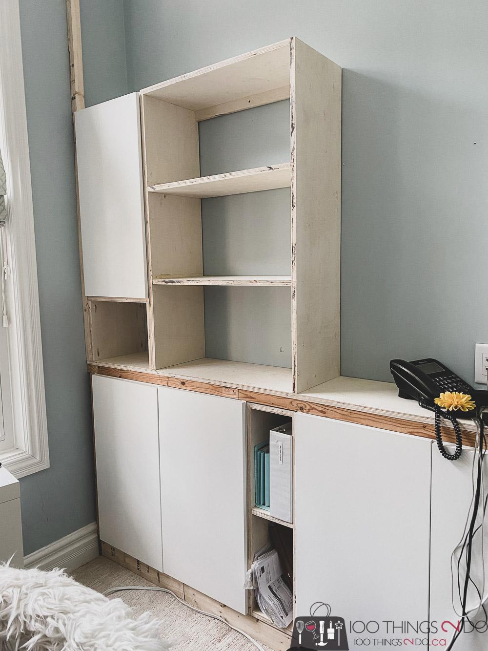 DIY built-ins, home office built-ins, making your own home office built-ins