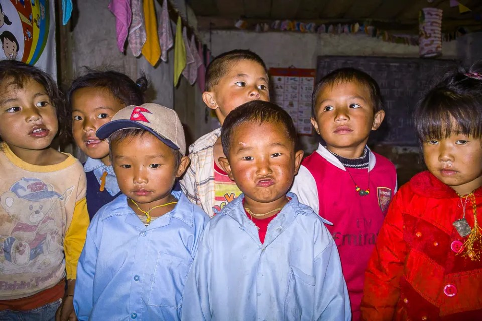 Nepal school children
