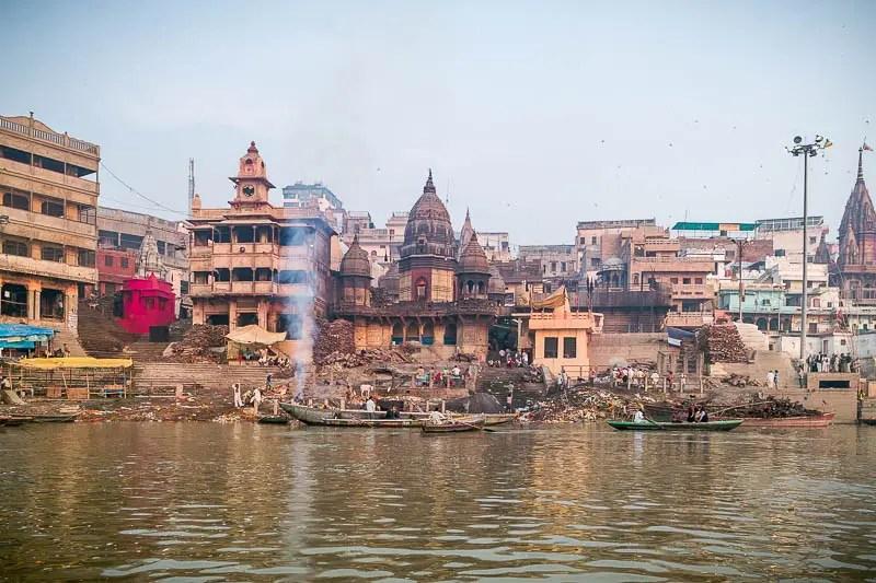 Varanasi cremation place