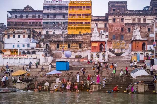 People bathing in Ganga River