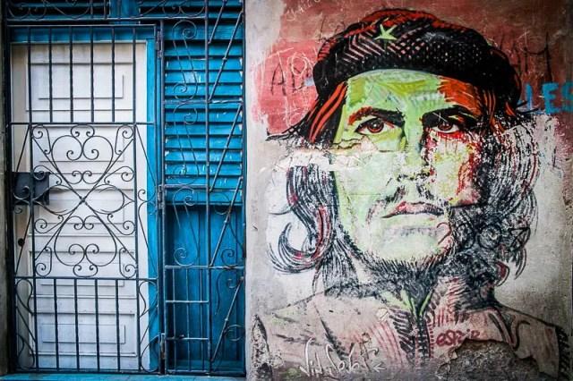 Che Guevara wall painting