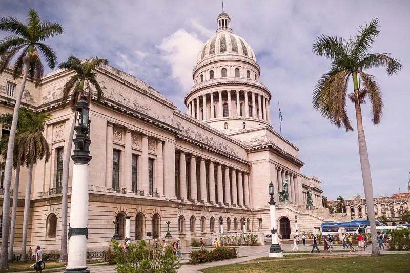 Parliament building in Havana