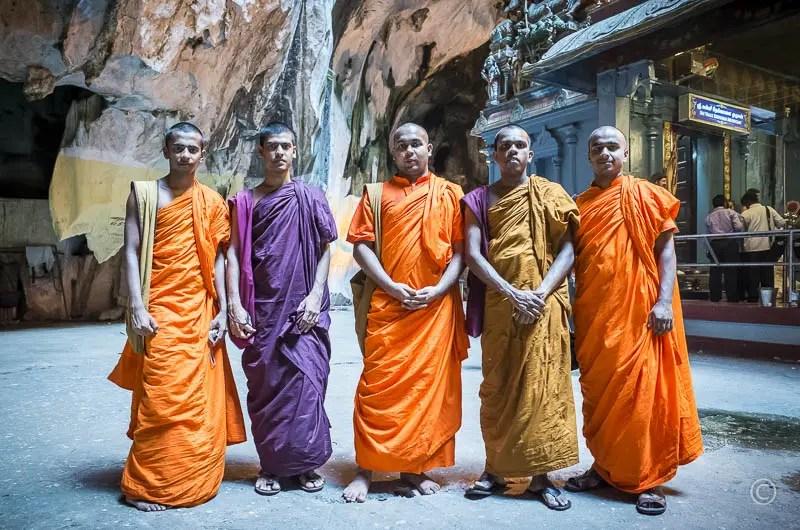 Monks from Sri Lanka at Batu Caves