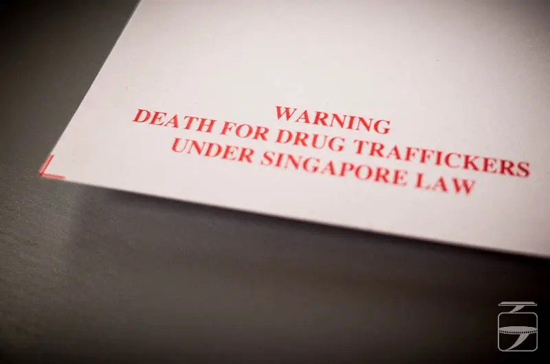 Death for drug traffickers - Singapore