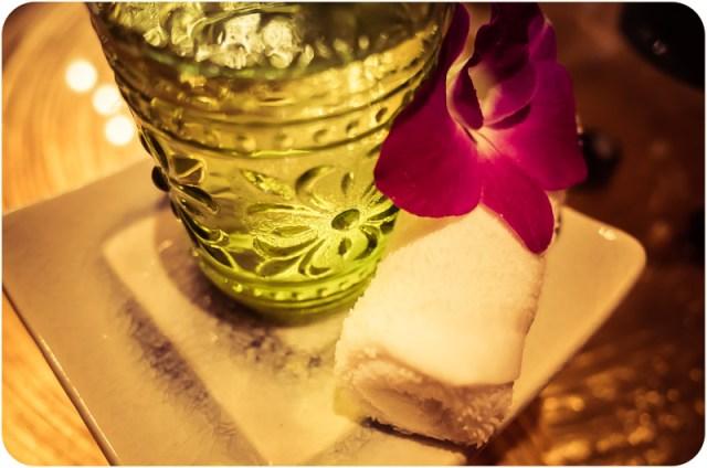 Cold tea and orchidea
