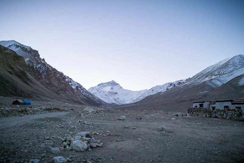 Morning ascent to the North Base Camp
