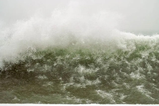 Unusual big waves near Toronto Islands