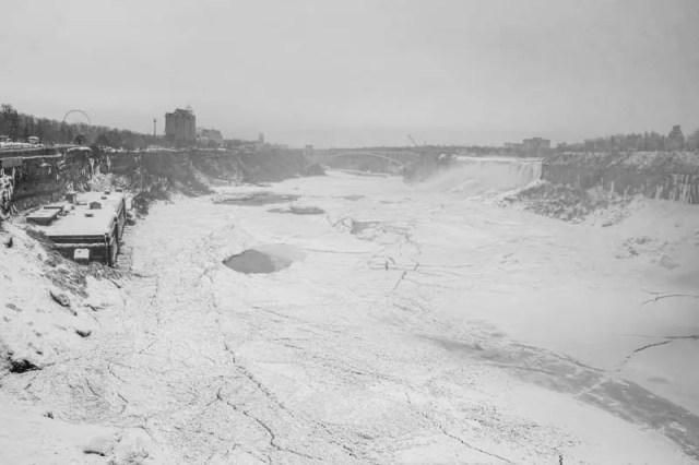 Frozen Niagara River.