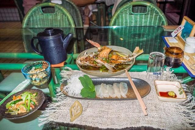Fish and sashimi