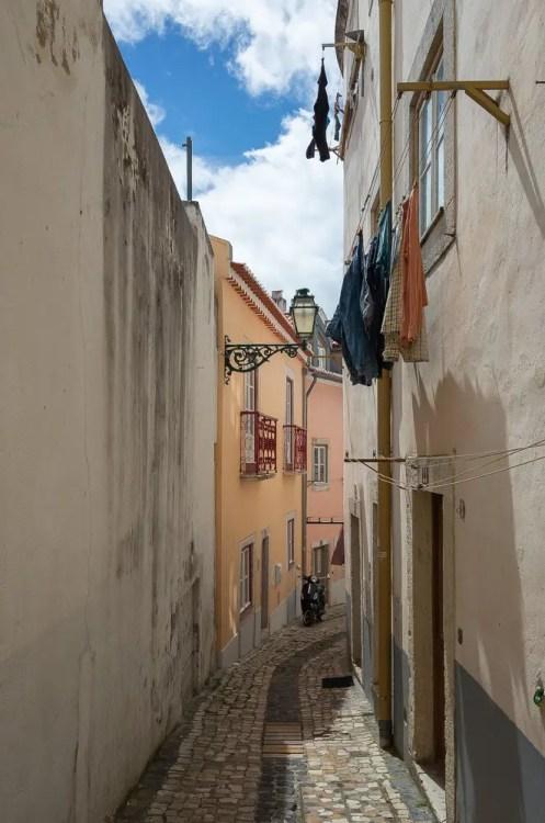 Lisbon narrow street