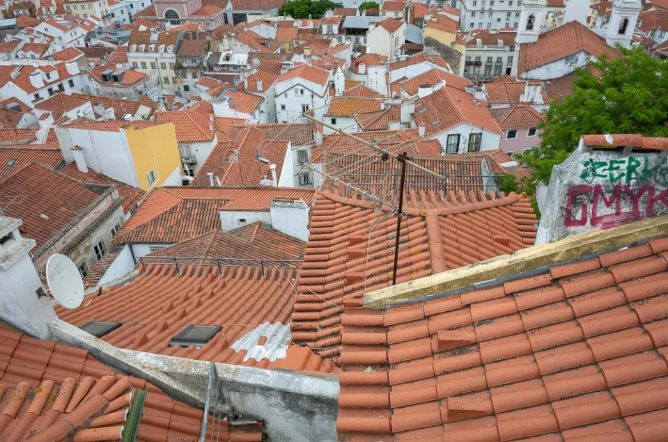 Alfama roofs, Lisbon