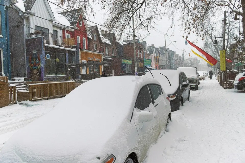 Snow covered cars - Toronto Winter Storm