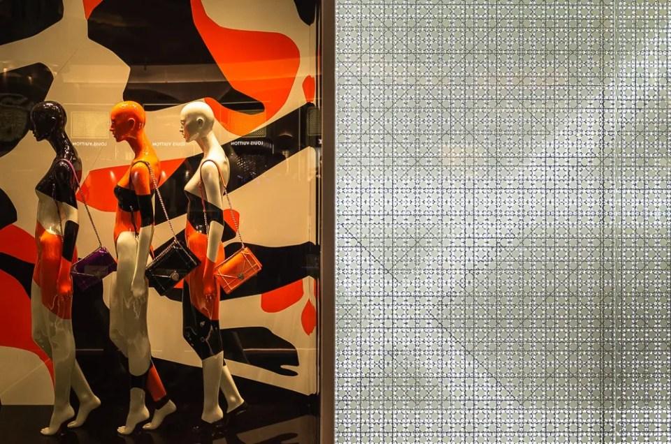 White, black and orange fashion