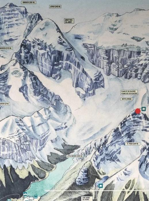 Plain Of Six Glaciers map