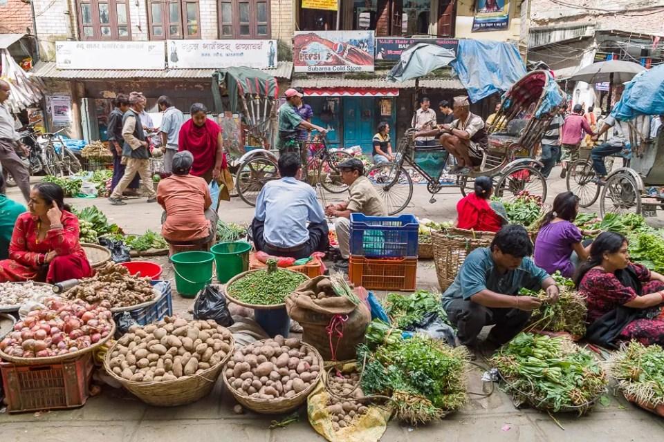 Kathmandu market