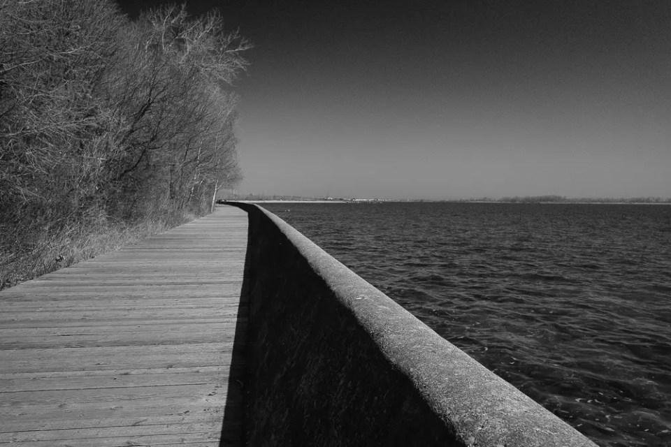Toronto Islands boardwalk