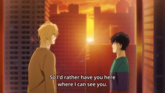 Banana Fish Episode 17 - Ash and Eiji.