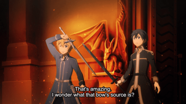 Sword Art Online Alicization Episode 14 Kirito and Eugeo