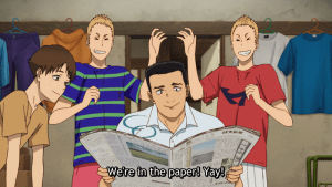Run With The Wind Episode 15 Team in Paper