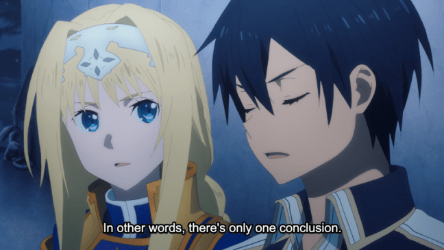 Alicization Episode 19 Kirito and Alice