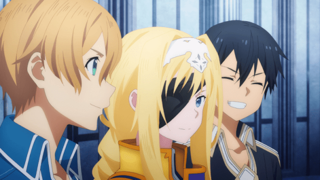 Alicization Episode 21 Eugeo, Alice and Kirito