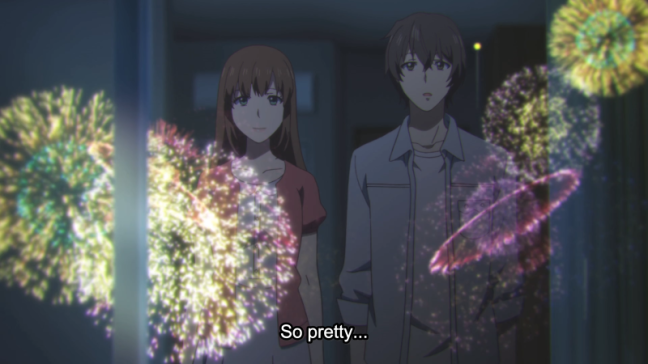 Natsuo and Hina fireworks - Domestic Girlfriend - Episode 11
