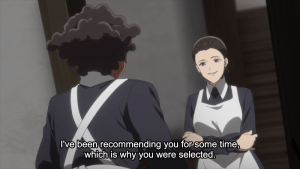 The Promised Neverland Episode 8 Isabella and Krone