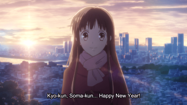 Tohru wishes Kyo and Yuki a Happy New Year - Fruits Basket