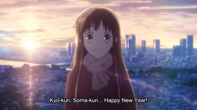 Tohru wishes Kyo and Yuki a Happy New Year - Fruits Basket
