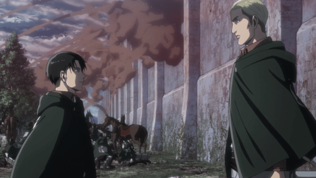 Levi and Erwin - Attack on Titan Season 3 Part Two