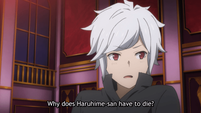Bell - Why does Haruhime-san have to die? - DanMachi Episode 9