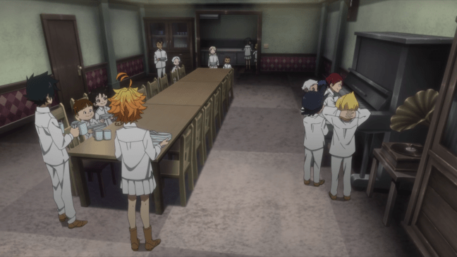 The Promised Neverland kids chilling in their new home - The Promised Neverland Season 2 Episode 3