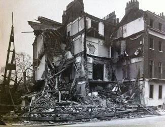 The original Tavistock Clinic at 51 Tavistock Square waas destroyed during the Blitz