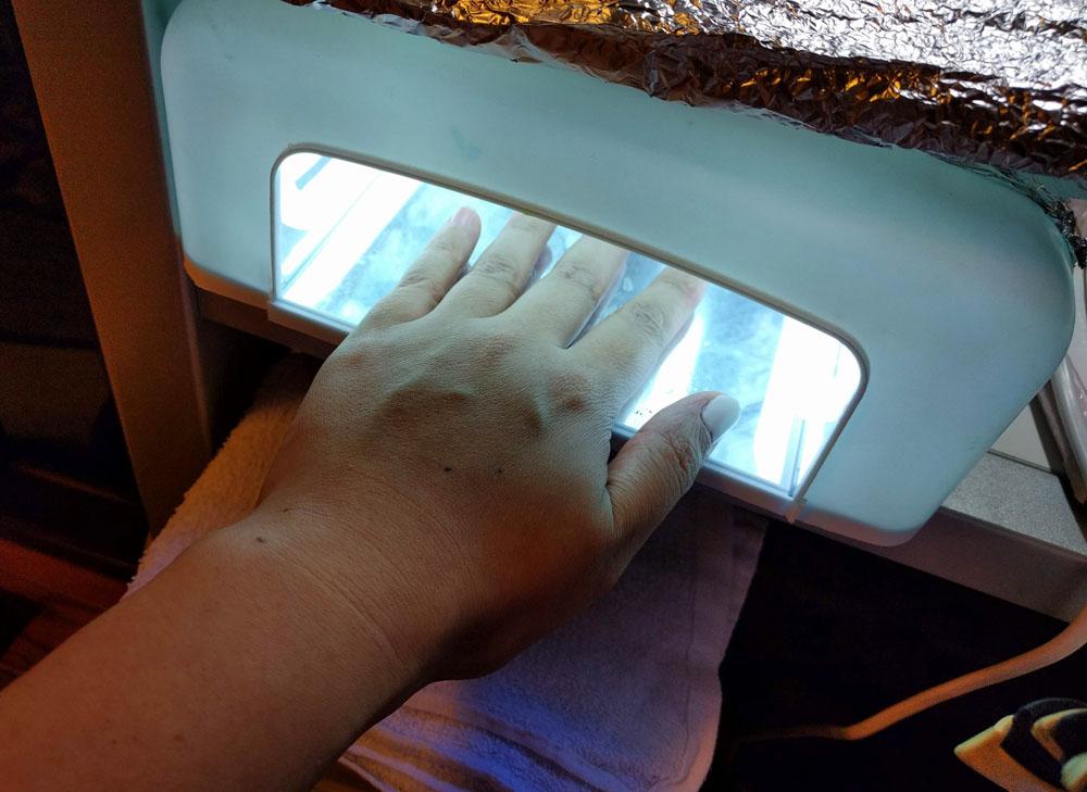 LED/UVライト対応ジェル 硬化中 UVライト