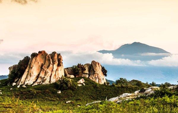 Etna vista dall'altopiano dell'Argimusco