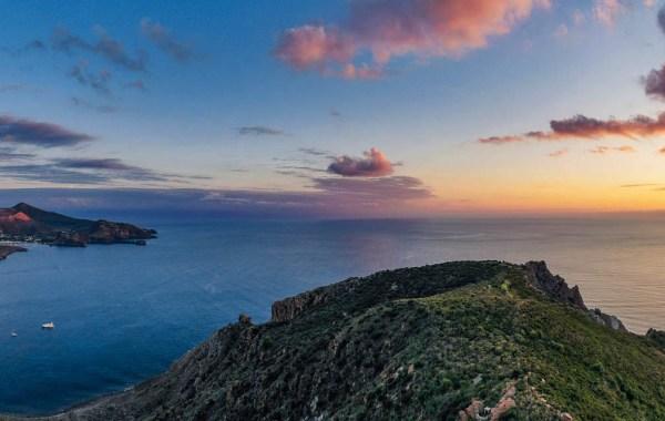 tramonto vulcano isole eolie