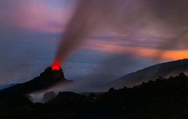 Etna, Hornitos sopra le nuvole