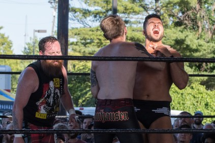 F1rst Wrestling Arik Cannon vs Danhaussen vs Ethan Page 081521 8241