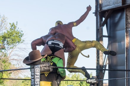F1rst Wrestling Manders of the West and Renny D Thunderfrog and Yellow Dog 081521 8326