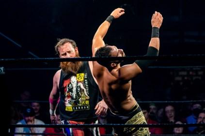 First Wrestling Wrestlepalooza Arik Cannon vs Ariya Daivari 01361