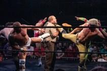 First Wrestling Wrestlepalooza Iron Rebel Renny D vs Brandon Gore vs Scott Story vs Rylie Jackson vs Deputy Rob Justice vs Atomic Super Thunderfrog 01205