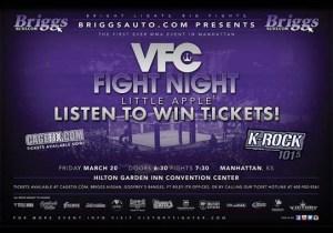 VFC Fight Night Little Apple 1 @ Hilton Garden Inn Convention Center | Manhattan | Kansas | United States