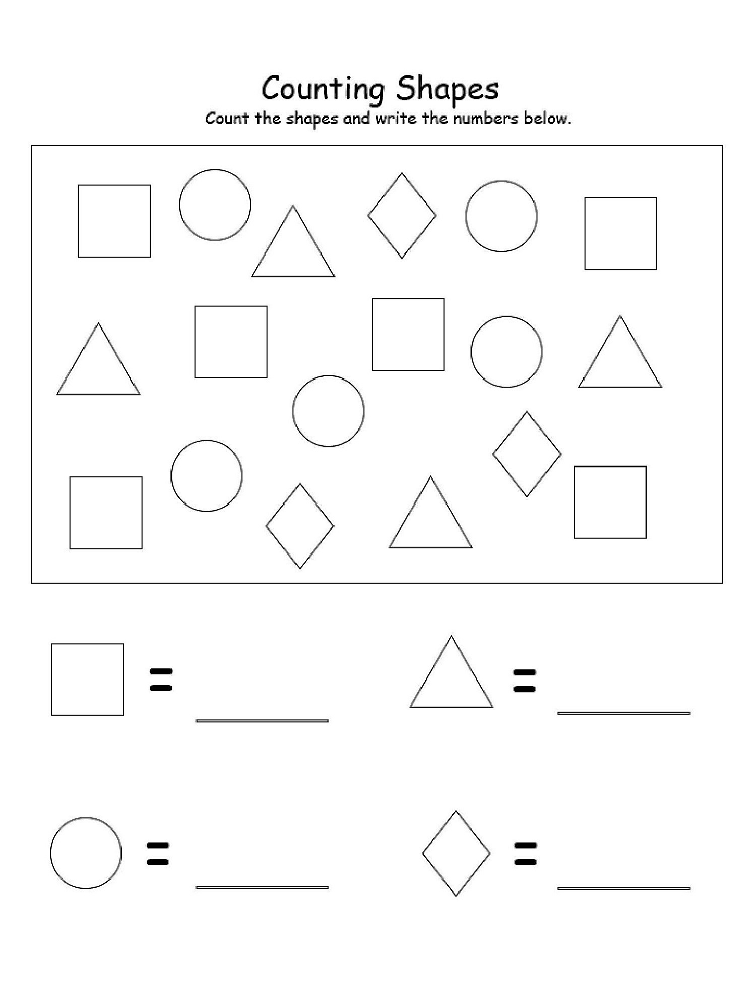Basic Shapes Worksheet