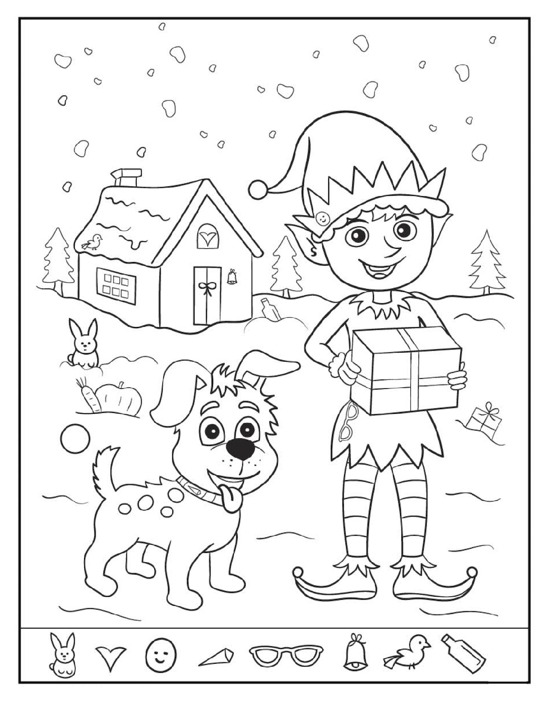Easy And Hard Hidden Pictures Worksheet Pintable