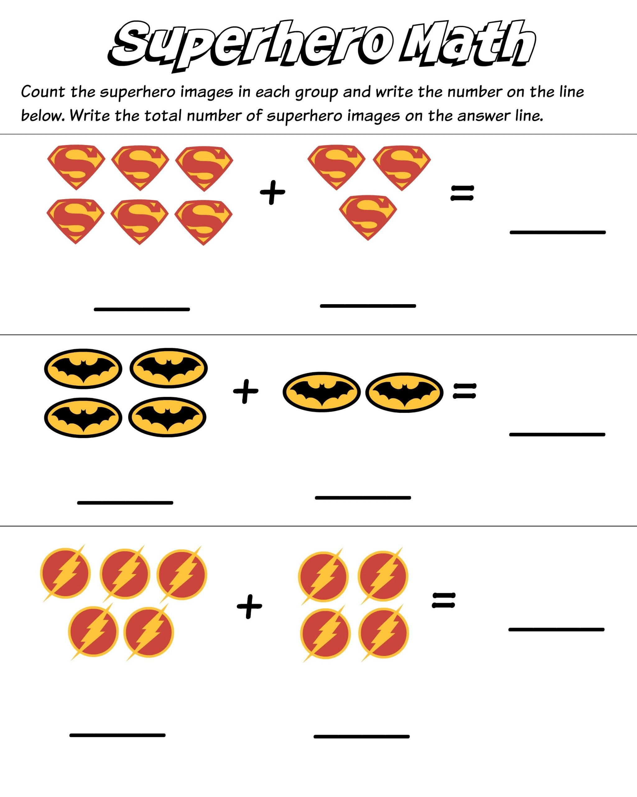 Picture Math Worksheets Fun For Kids